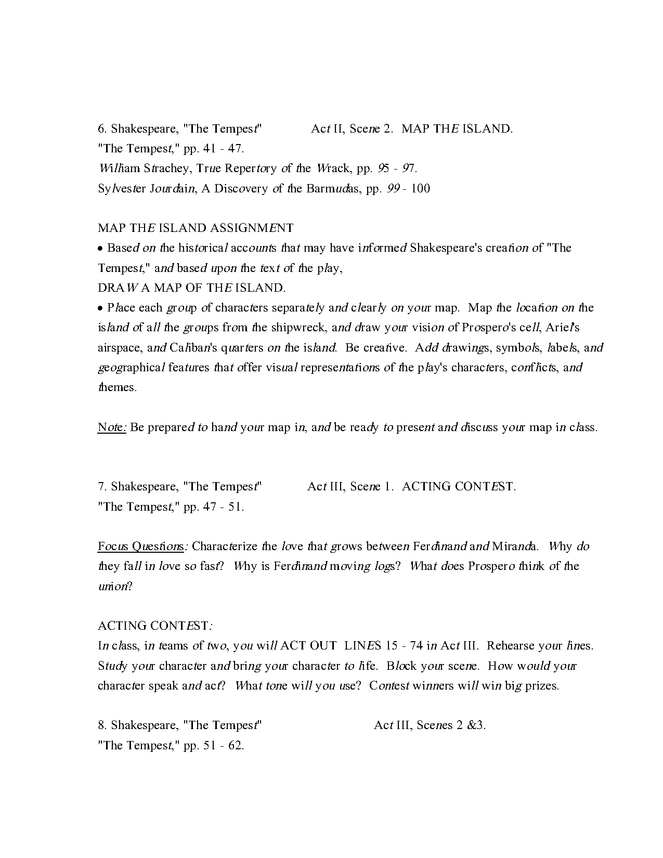 """syllabus: shakespeare, """"the tempest"""" preview image 5"""