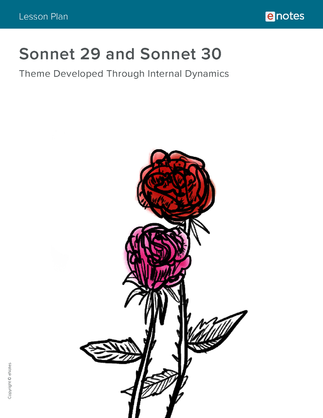 sonnet 29 and sonnet 30 themes lesson plan preview image 1
