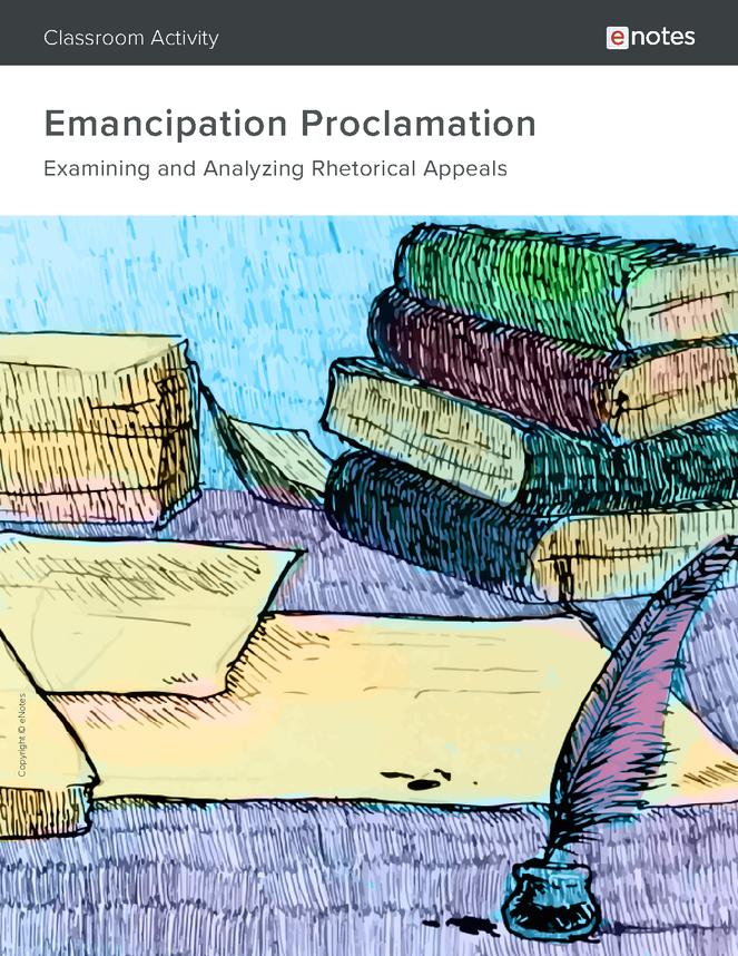emancipation proclamation rhetorical analysis activity preview image 1
