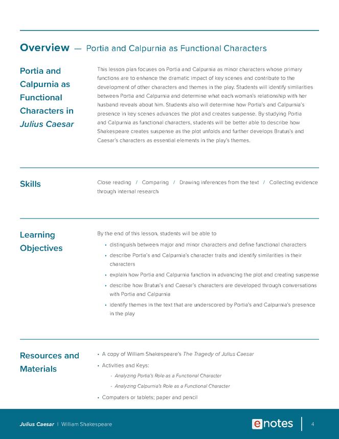 julius caesar character analysis lesson plan preview image 4