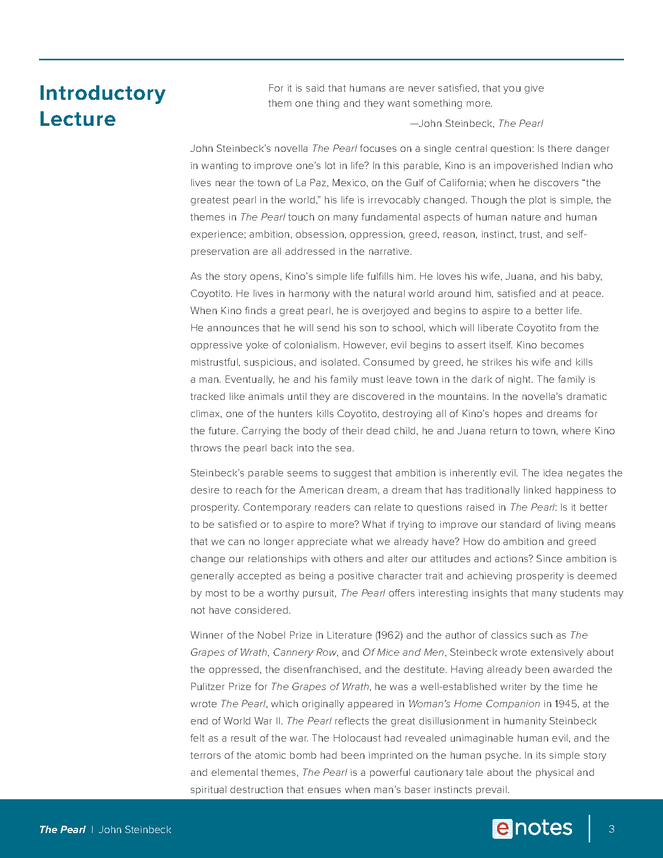 the pearl enotes lesson plan preview image 3