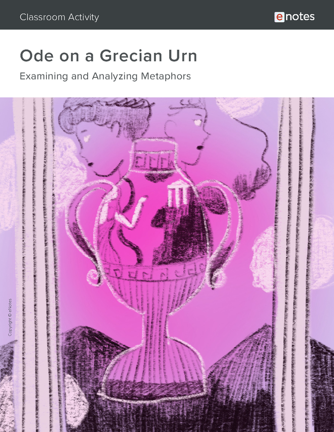ode on a grecian urn metaphor activity preview image 1