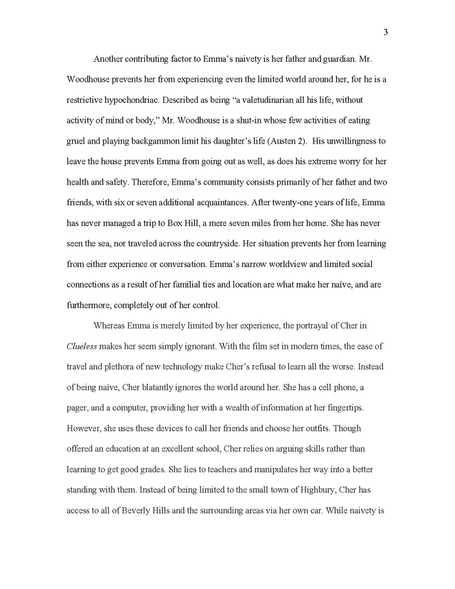 emma and clueless comparison in critical essay preview image 3