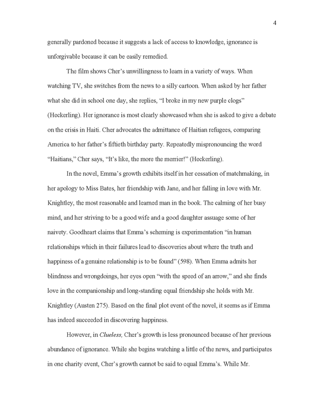 emma and clueless comparison in critical essay preview image 4