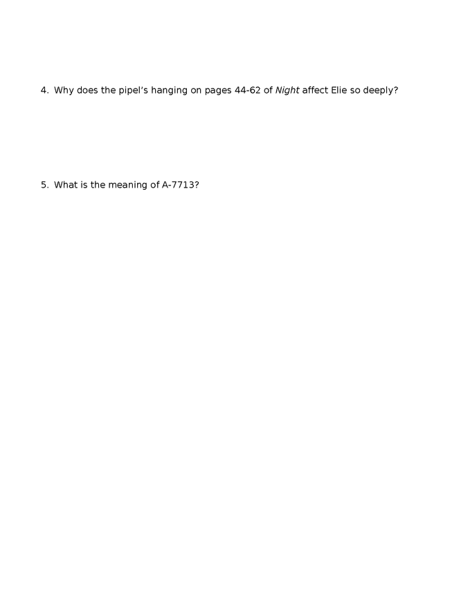 night quiz/answer key p. 1-62 preview image 3