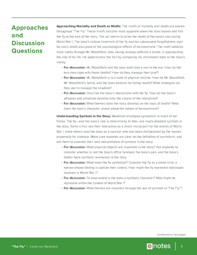 the fly enotes teaching guide preview image 6