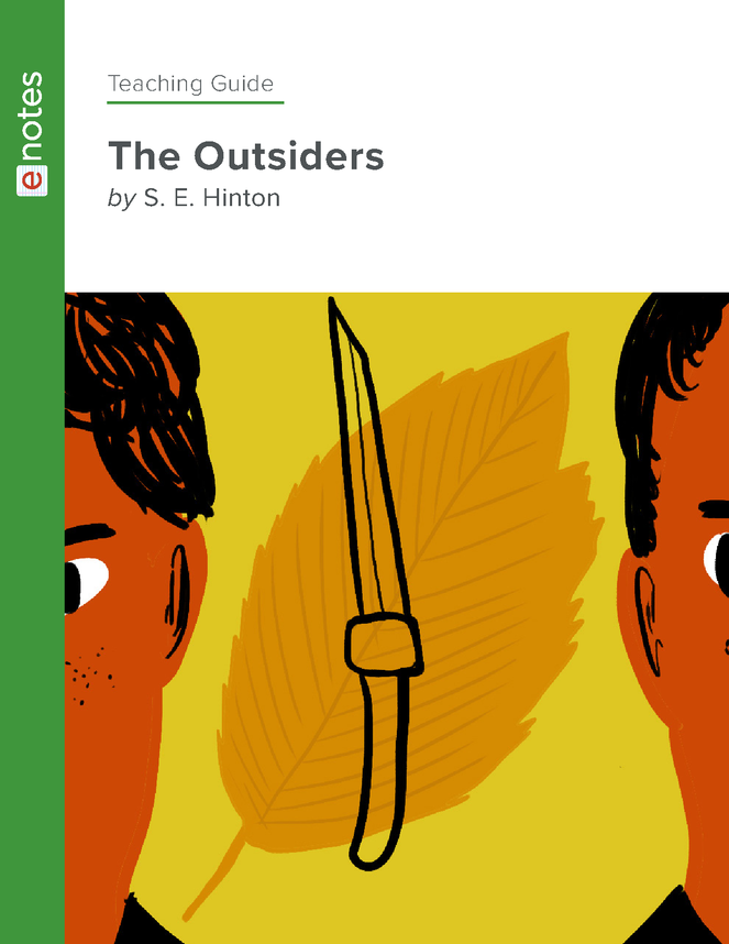 the outsiders enotes teaching guide preview image 1