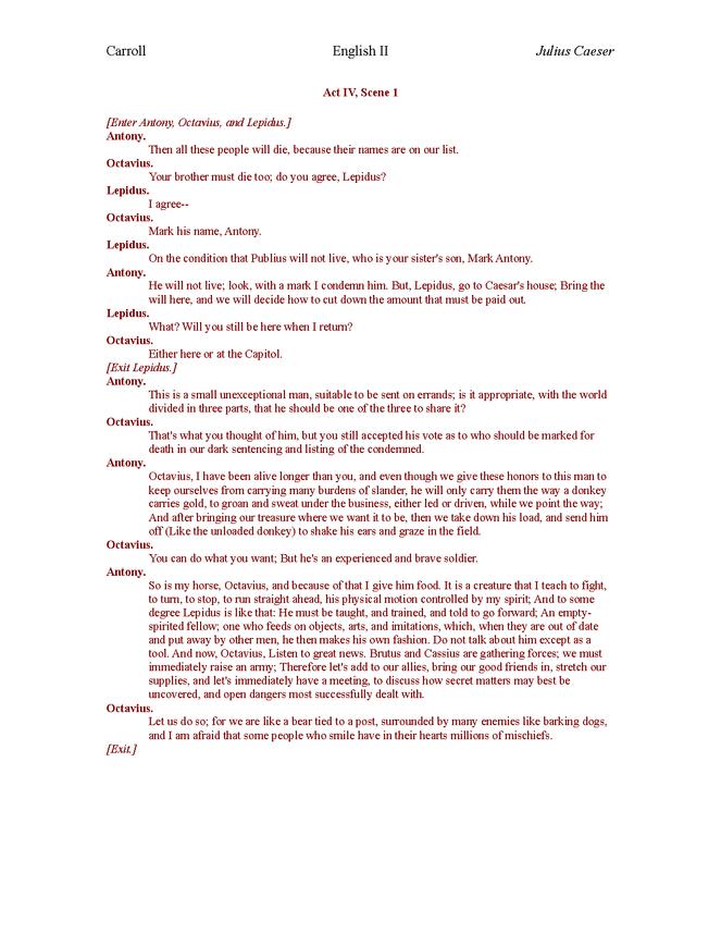plain english julius caesar act iv preview image 1