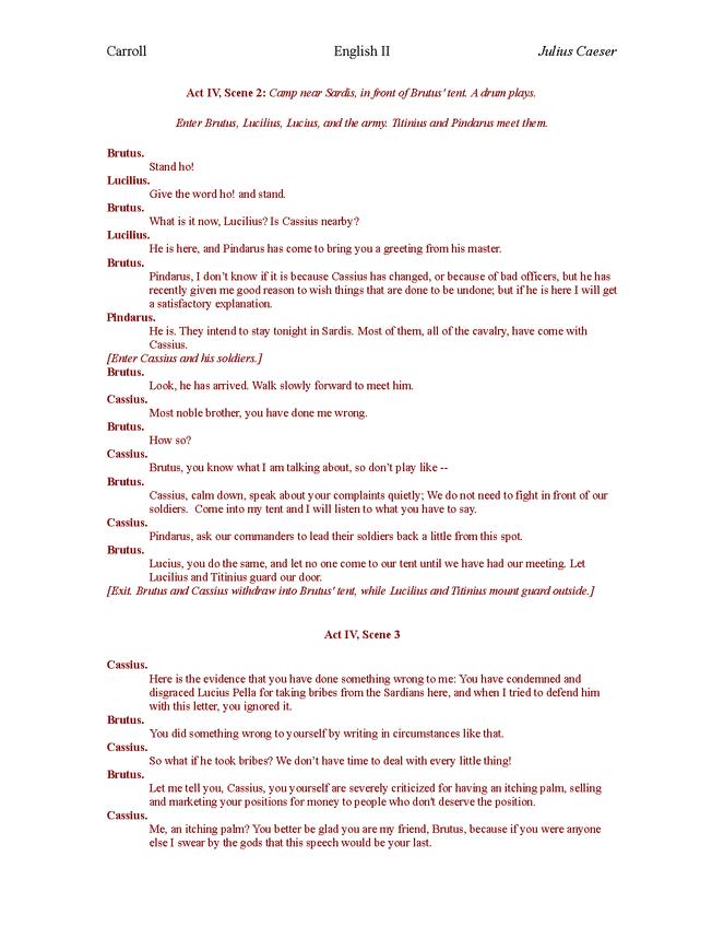 plain english julius caesar act iv preview image 2
