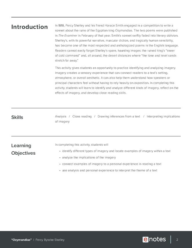 ozymandias of egypt summary pdf