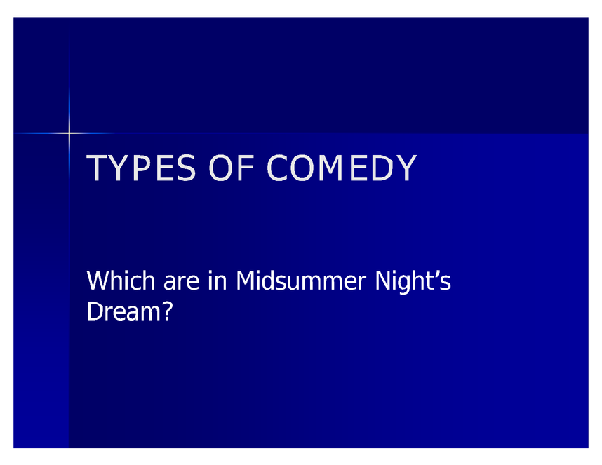 comedy in a midsummer night's dream preview image 1