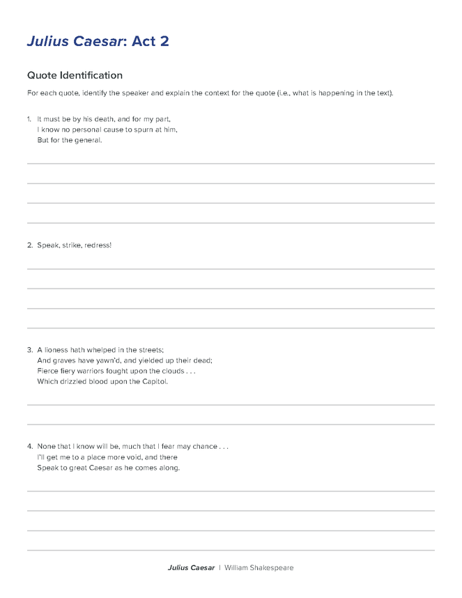 julius caesar reading comprehension quiz preview image 6