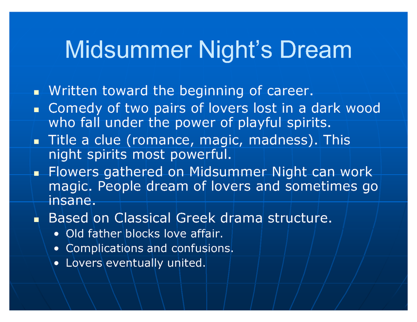 a midsummer night's dream powerpoint preview image 5