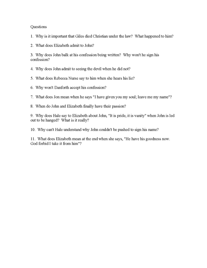 the crucible study guide act iv preview image 2