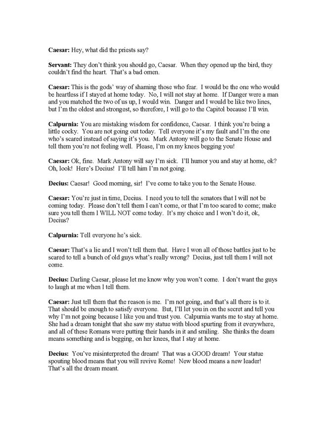 modern english translation of julius caesar, act ii, scenes 2-4 preview image 2
