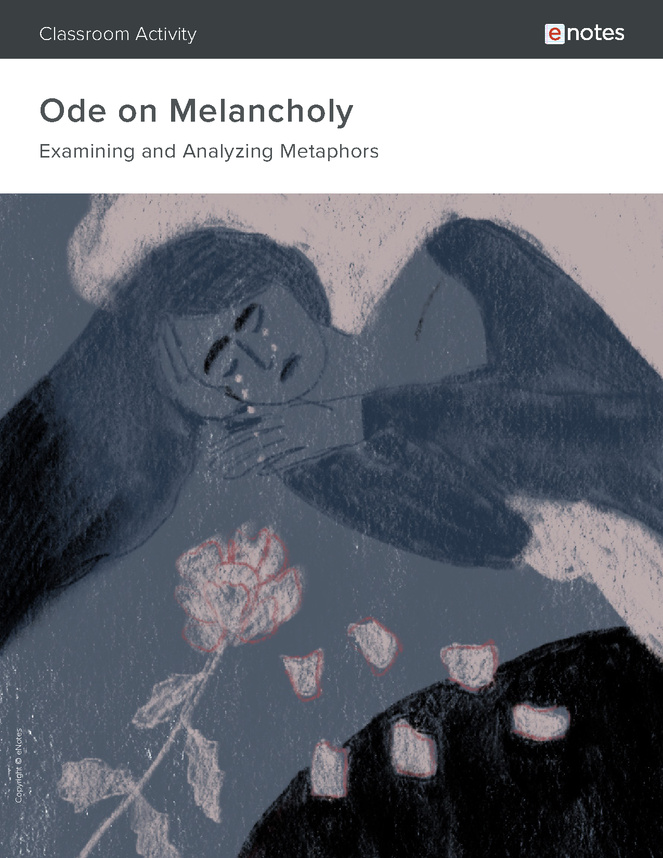 ode on melancholy metaphor activity preview image 1