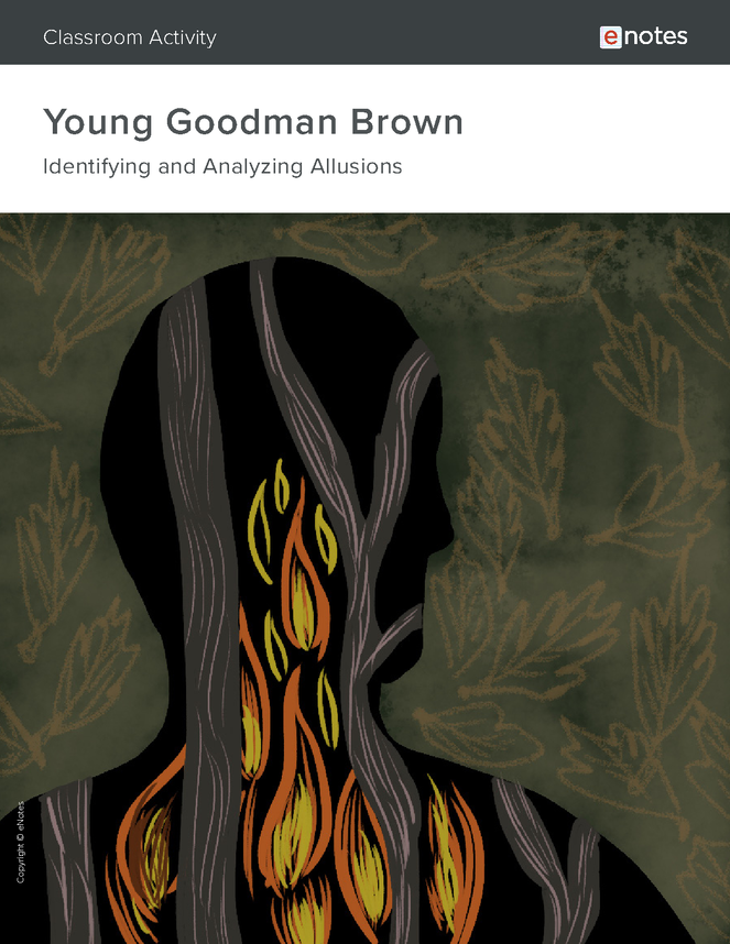 young goodman brown allusion activity preview image 1
