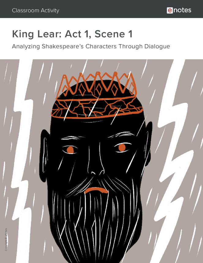 king lear act 1 scene 1 dialogue analysis activity preview image 1