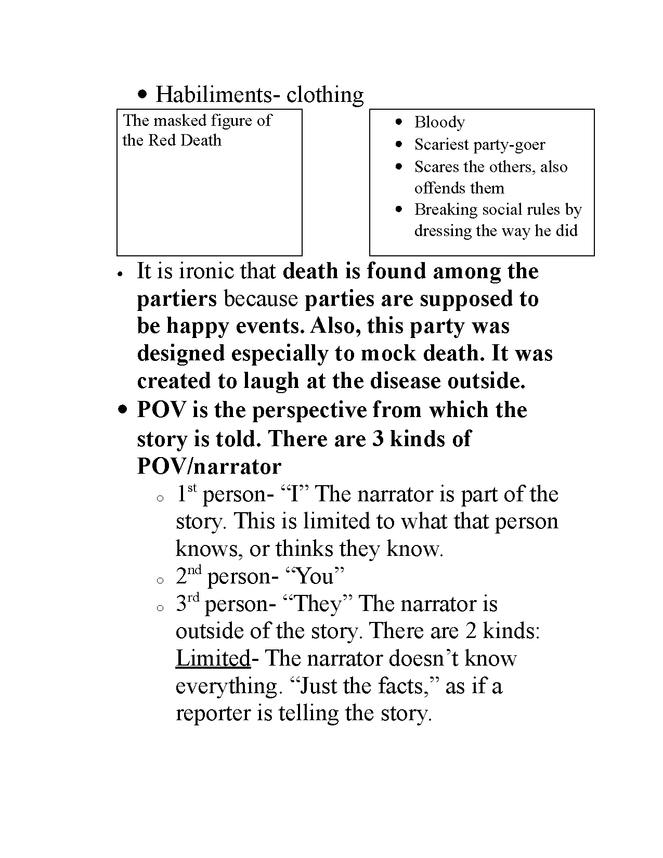 "teacher guide for ""the masque of the red death"" preview image 2"