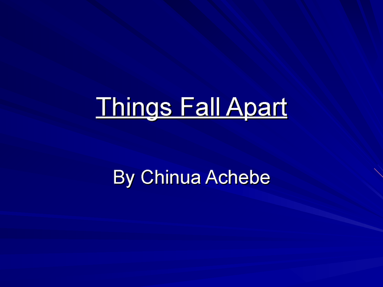 things fall apart: introduction powerpoint preview image 1