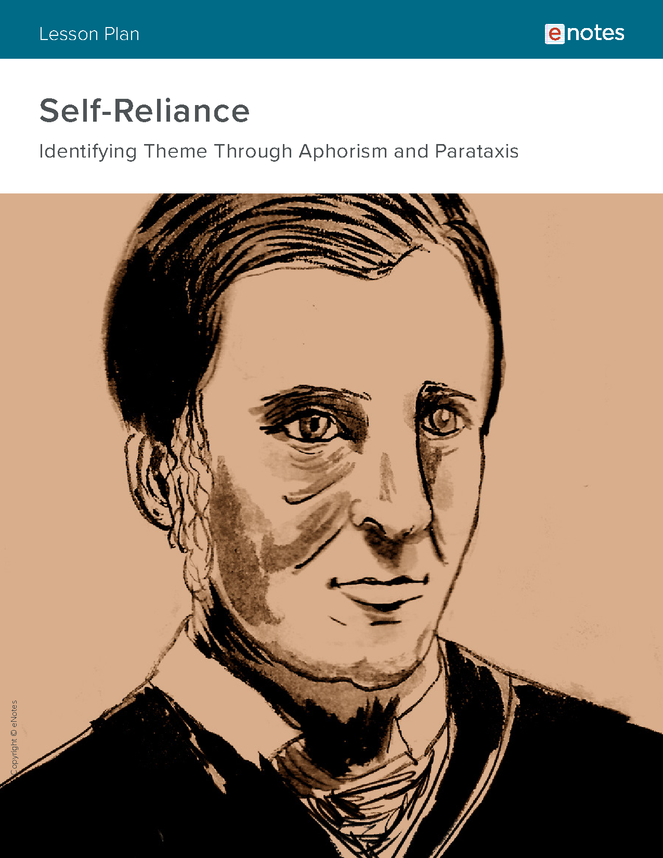self-reliance rhetorical devices lesson plan preview image 1