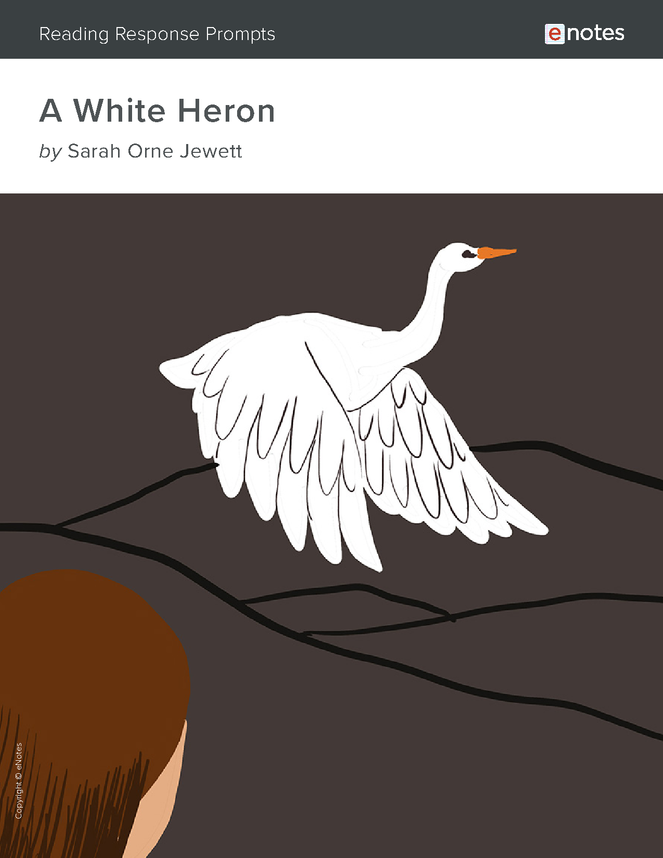 a white heron enotes reading response prompts preview image 1