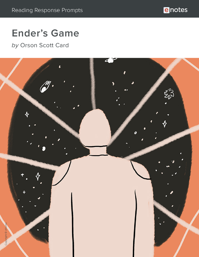 ender's game enotes reading response prompts preview image 1
