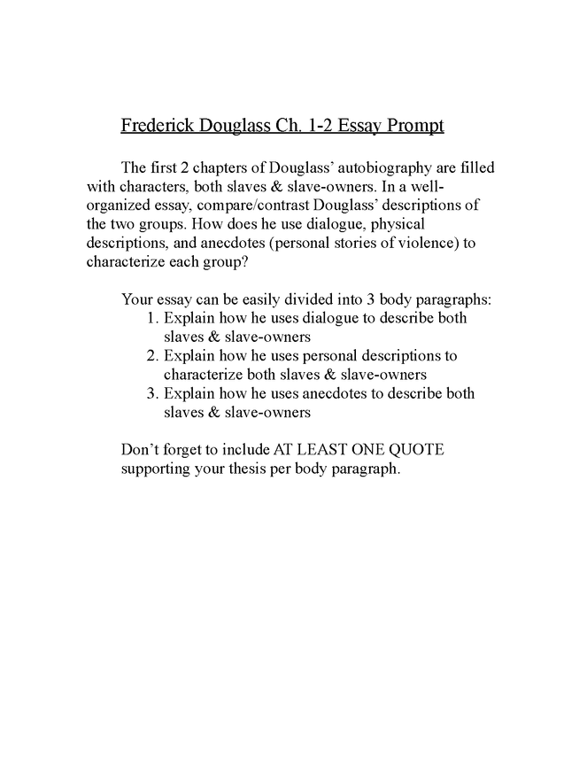 group chapter analysis-frederick douglass preview image 2
