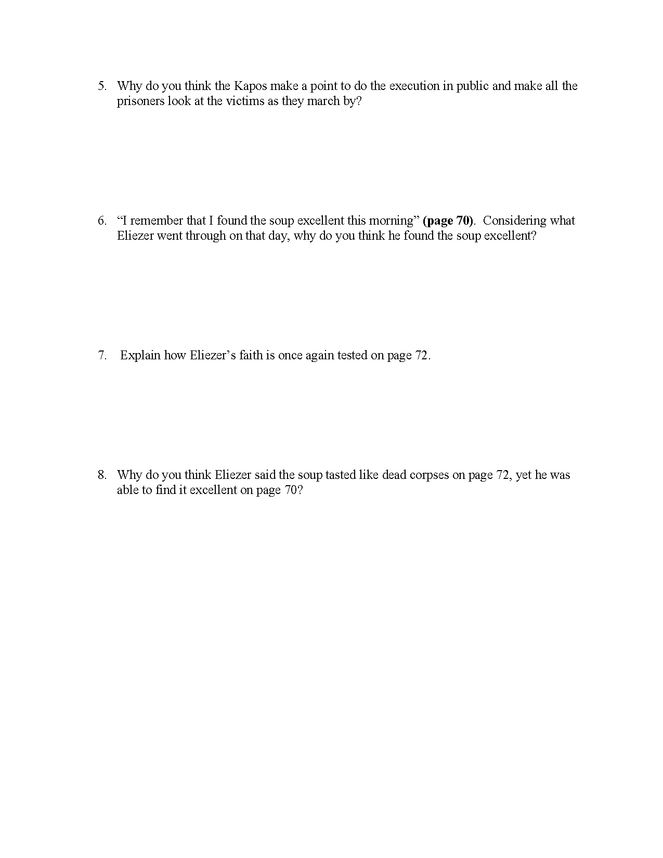 """night"" study questions pgs. 64-72 preview image 2"