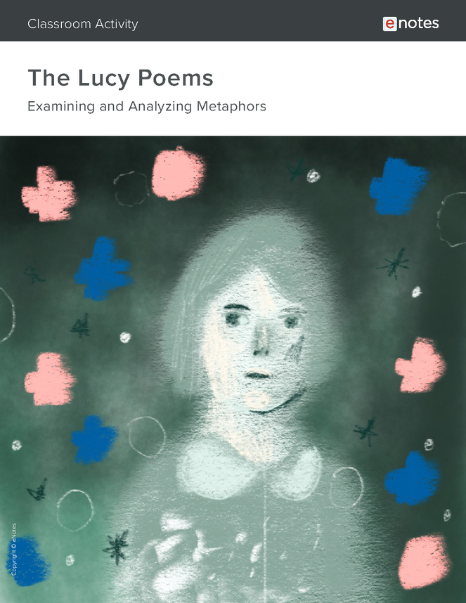 the lucy poems metaphor activity preview image 1