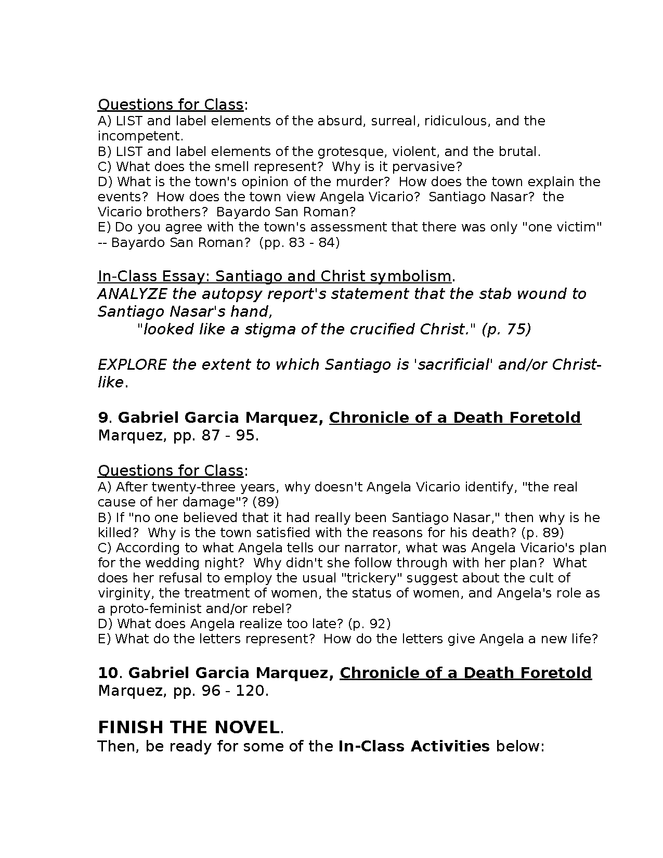 syllabus: garcia marquez, chronicle of a death foretold preview image 5