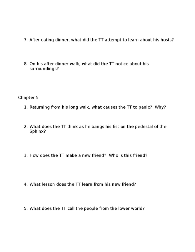 time machine study guide/review sheets preview image 3