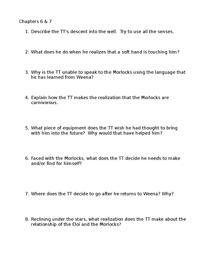 time machine study guide/review sheets preview image 4